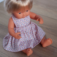 Summer Pink Pinny Dress for 38cm Miniland