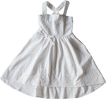 Poppy Tie Hi-Lo Dress - Milk Broiderie Anglaise