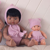 Silver Fairtrade 100% Alpaca Romper for 21, 32 and 38cm miniland