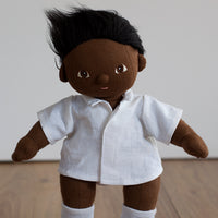 White Linen Shirt for Dinkum Doll - Not for 38cm Miniland