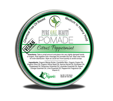Citrus Peppermint Vegan Hair Pomade