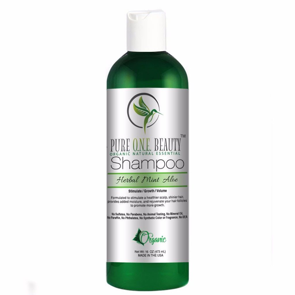 Herbal Mint Aloe <br> Shampoo - Pure ONE Beauty