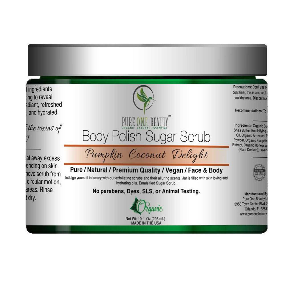 Pumpkin Coconut Delight<br>Body Polish Emulsified Scrub - Pure ONE Beauty