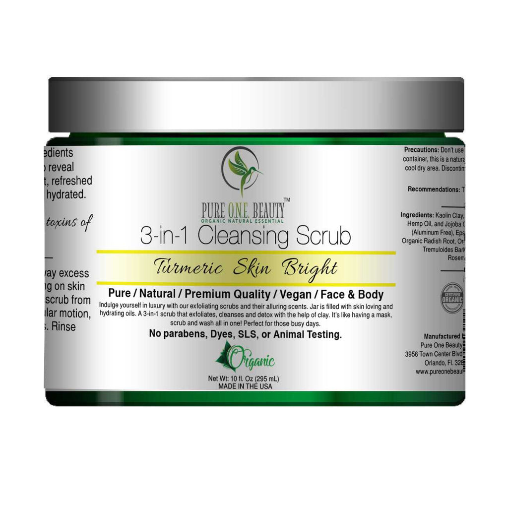 Turmeric Skin Bright<br>3-in-1 Cleansing Scrub - Pure ONE Beauty