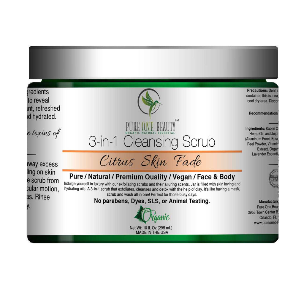 Citrus Skin Fade<br>3-in-1 Cleansing Scrub - Pure ONE Beauty