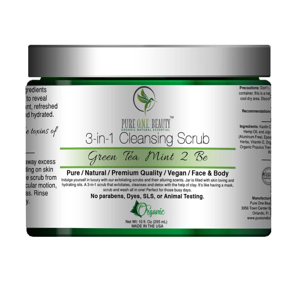 Green Tea Mint 2 Be<br>3-in-1 Cleansing Scrub - Pure ONE Beauty