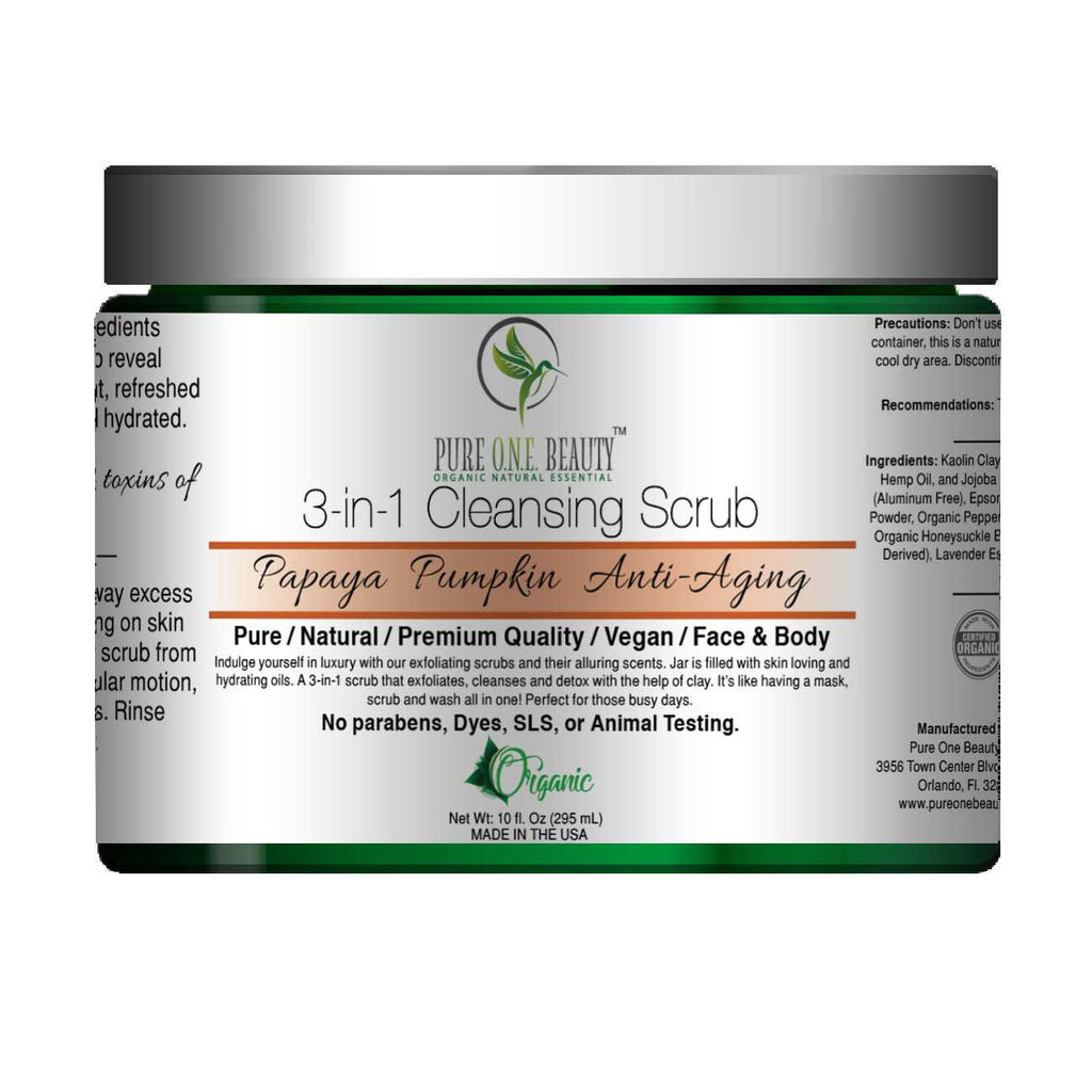 Papaya Pumpkin Anti-Aging<br>3-in-1 Cleansing Scrub - Pure ONE Beauty
