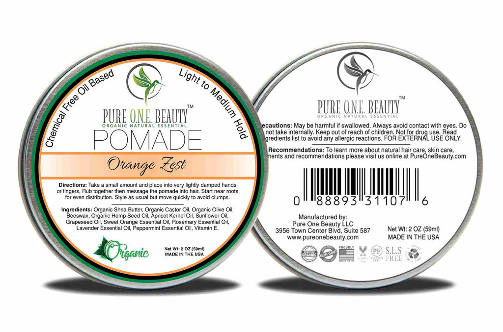 Orange Zest Pomade <br> Pick Your Hold - Pure ONE Beauty
