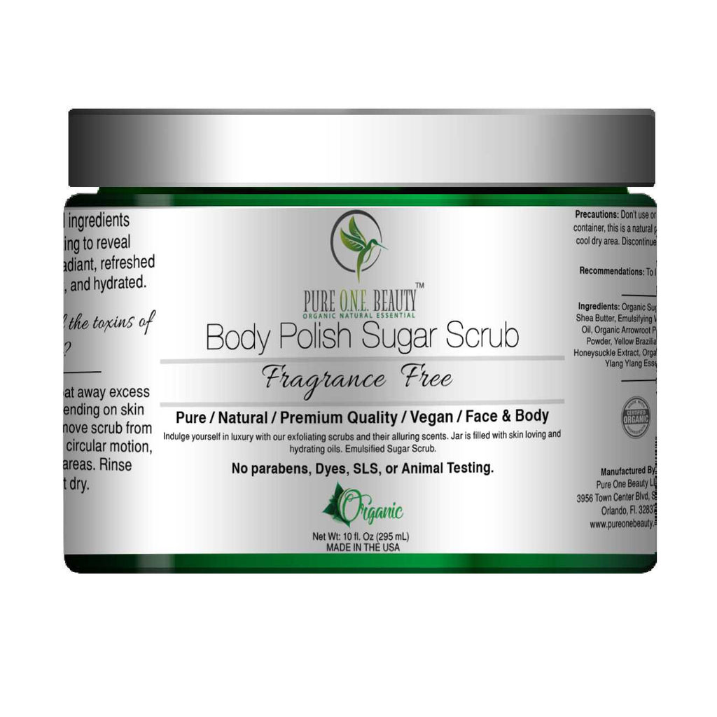 Fragrance Free<br>Body Polish Emulsified Scrub - Pure ONE Beauty