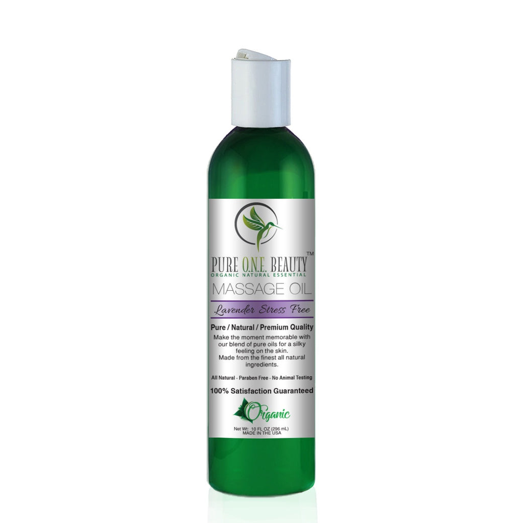 Lavender Anti-Stress<br>Massage Oil - Pure ONE Beauty