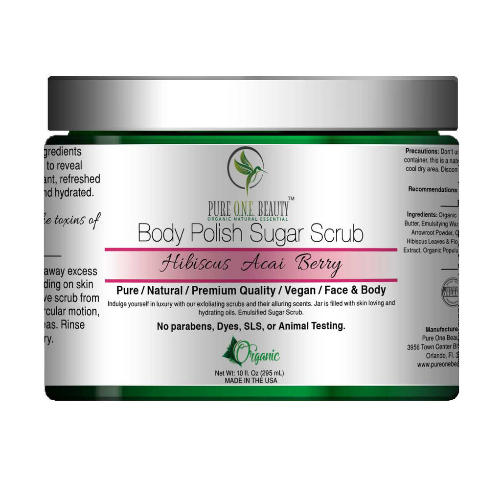 Hibiscus Acai Berry<br>Body Polish Emulsified Scrub - Pure ONE Beauty
