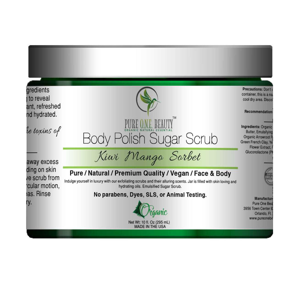 Kiwi Mango Sorbet<br>Body Polish Emulsified Scrub - Pure ONE Beauty