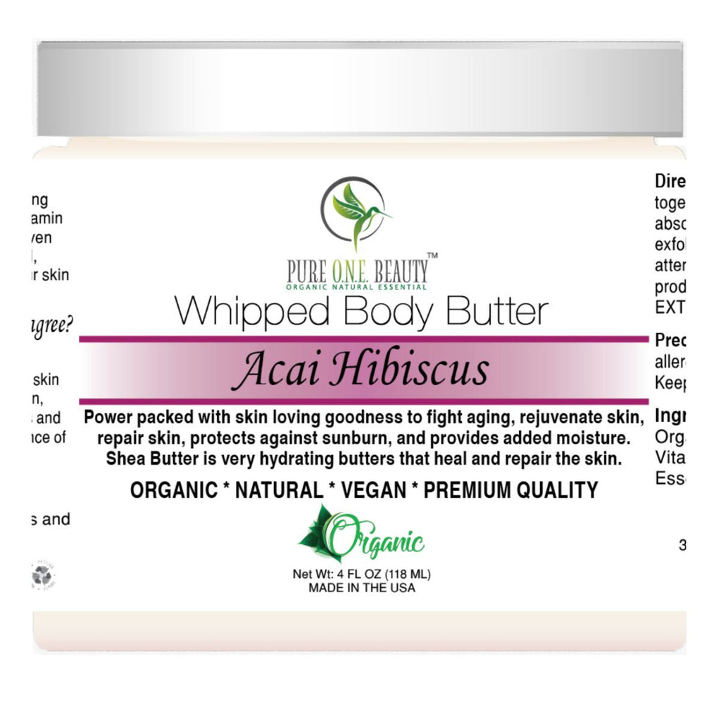 Acai Hibiscus <br> Whipped Body Butter - Pure ONE Beauty