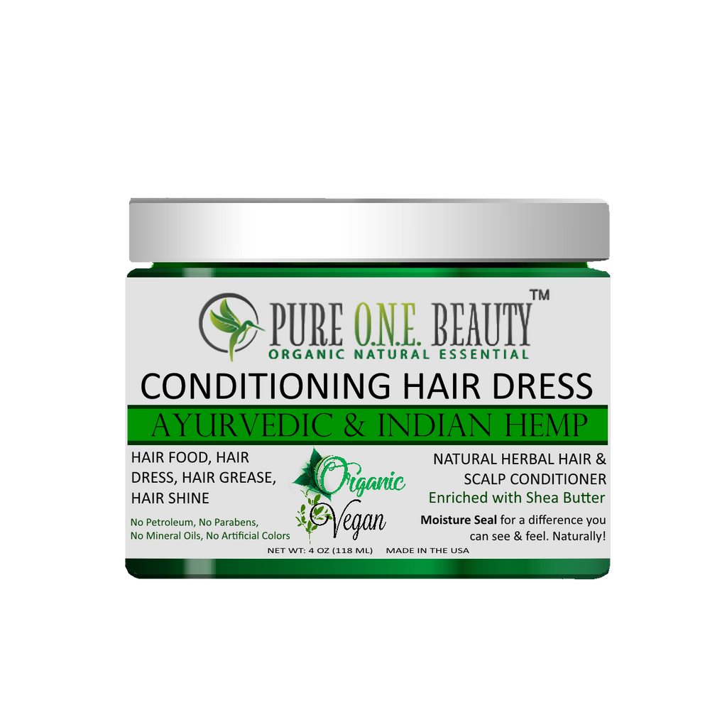 Ayurvedic & Indian Hemp<br>Hair Dress & Hair Grease - Pure ONE Beauty