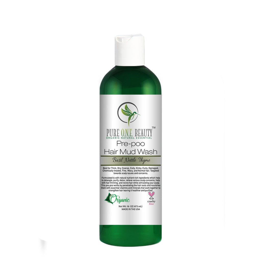 Basil Nettle Thyme<br>Pre-poo Hair Mud Wash - Pure ONE Beauty