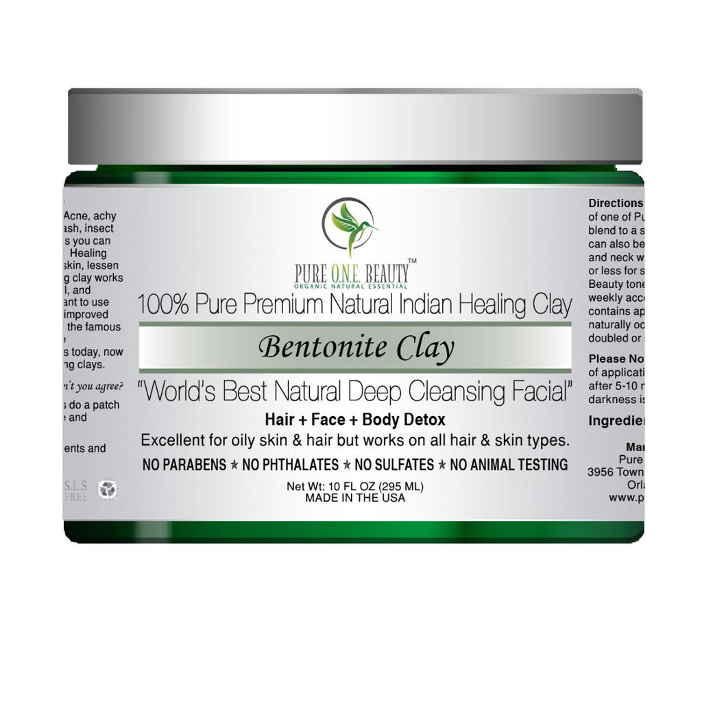 100% Pure Bentonite Clay <br> Natural Indian Healing Clay - Pure ONE Beauty