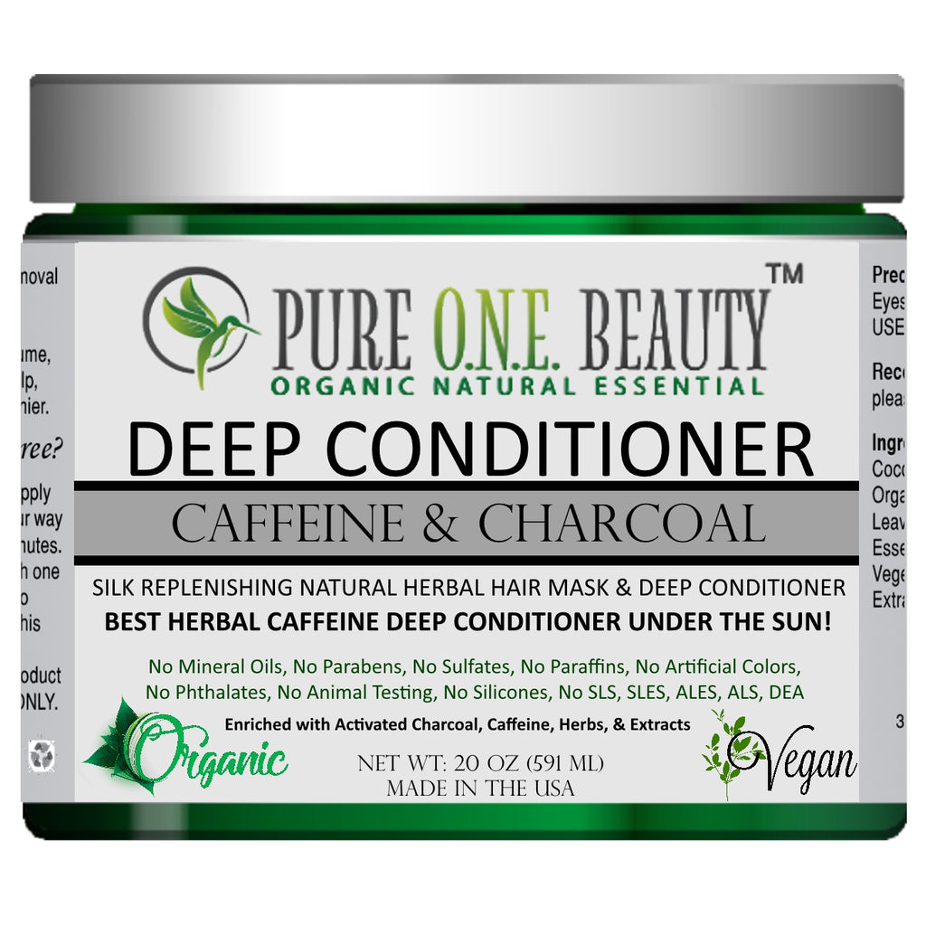 Caffeine & Charcoal<br>Deep Conditioner - Pure ONE Beauty