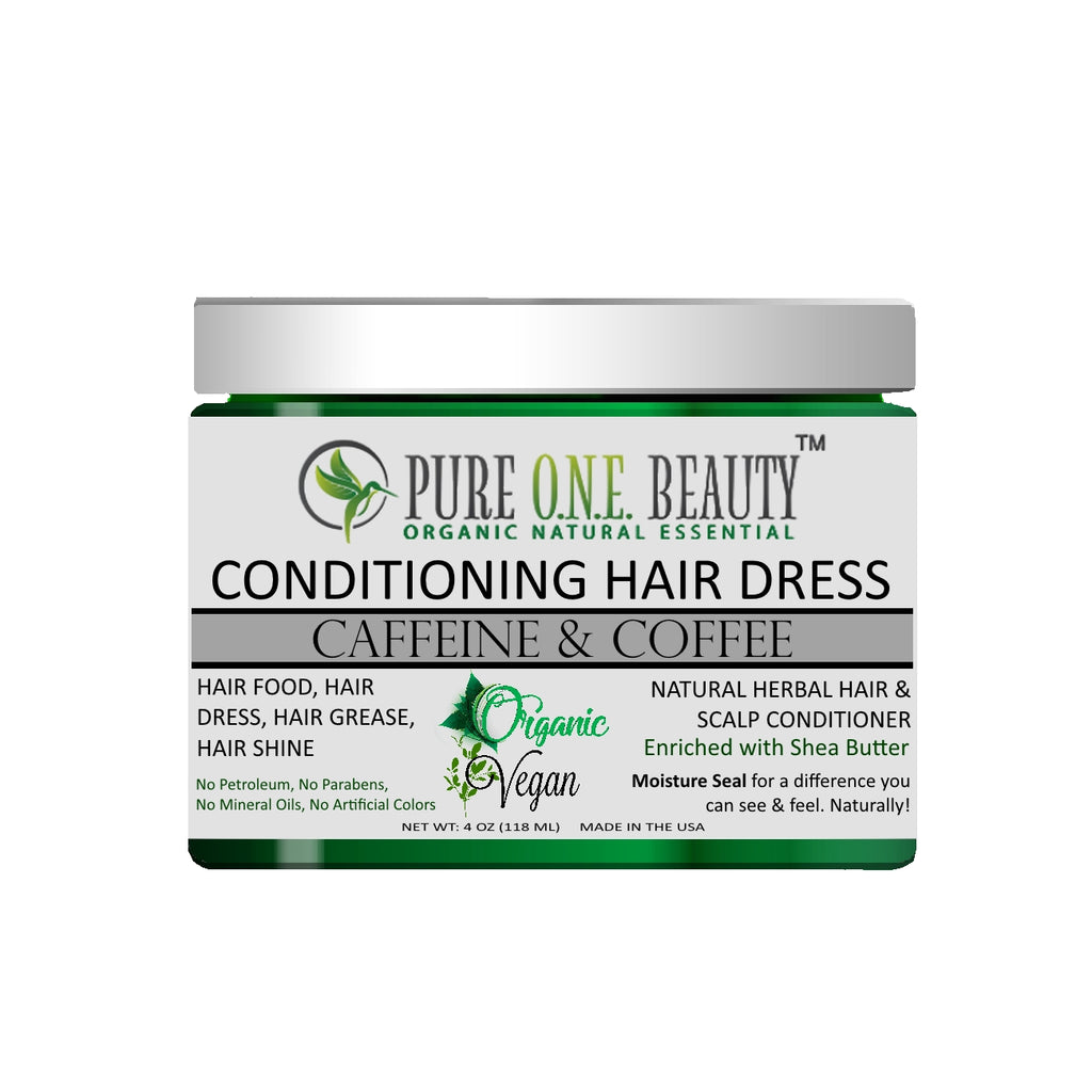Caffeine & Coffee<br> Hair Dress & Hair Grease - Pure ONE Beauty