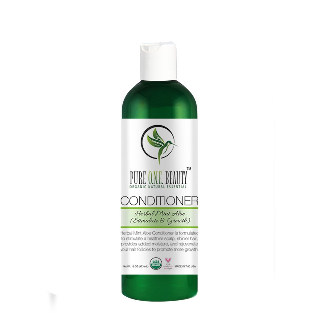 Herbal Mint Aloe (Stimulate & Growth)<br>Shampoo & Conditioner - Pure ONE Beauty