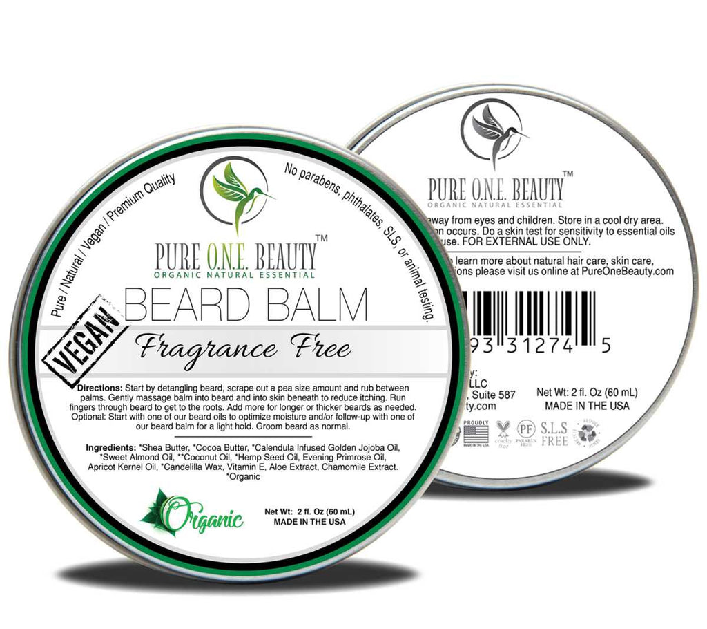 Fragrance Free <br> Beard Balm - Pure ONE Beauty