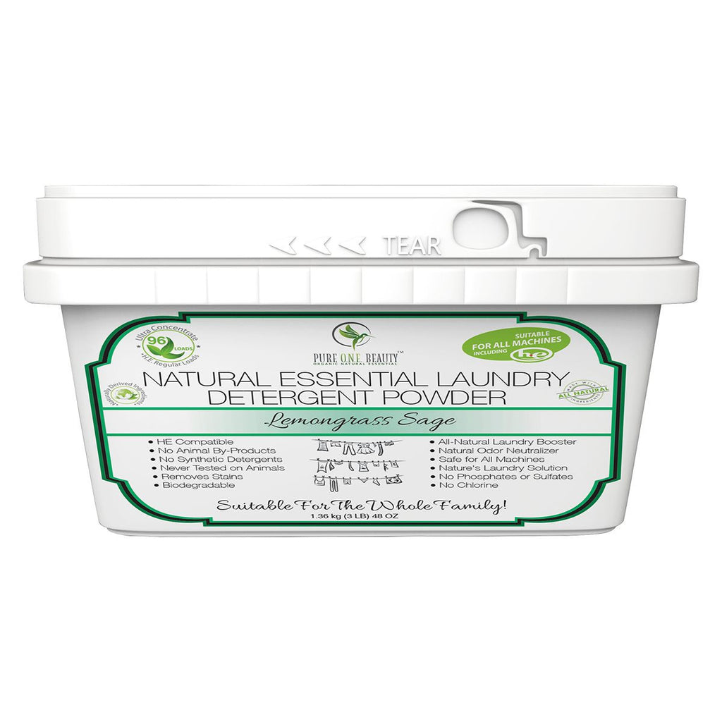 Lemongrass Sage Natural Essential<br>Laundry Detergent Powder - Pure ONE Beauty