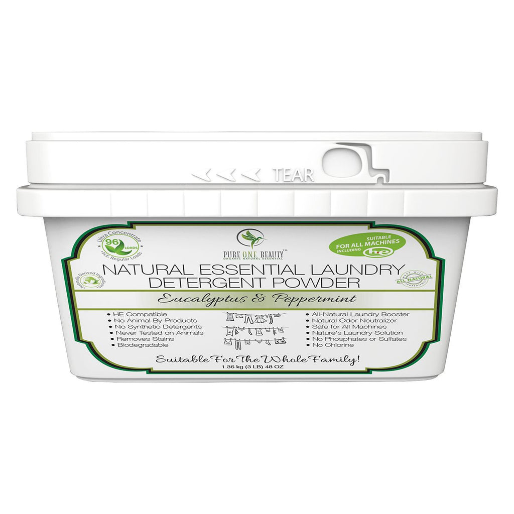 Eucalyptus & Peppermint Natural Essential<br>Laundry Detergent Powder - Pure ONE Beauty