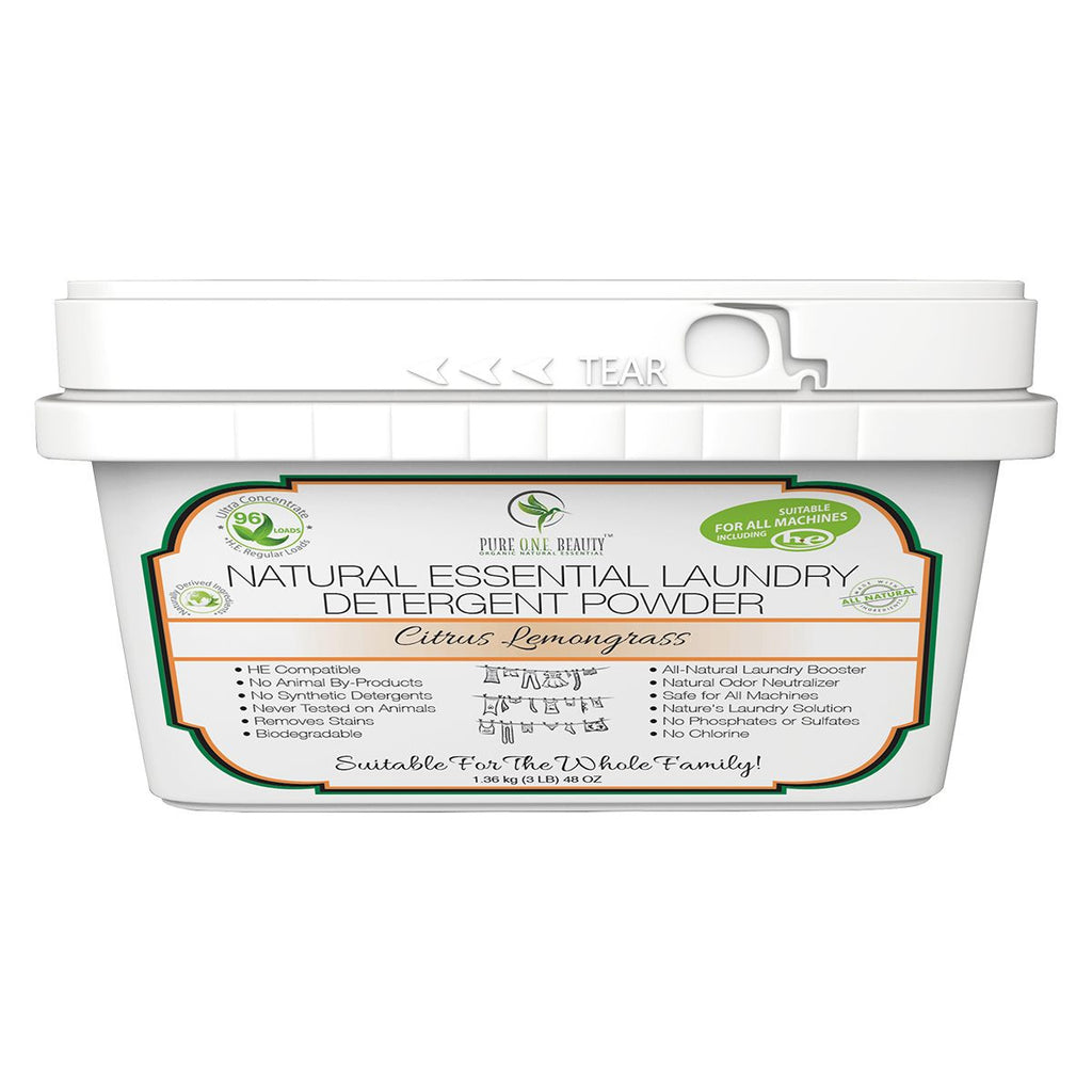 Citrus Lemongrass Natural Essential<br>Laundry Detergent Powder - Pure ONE Beauty