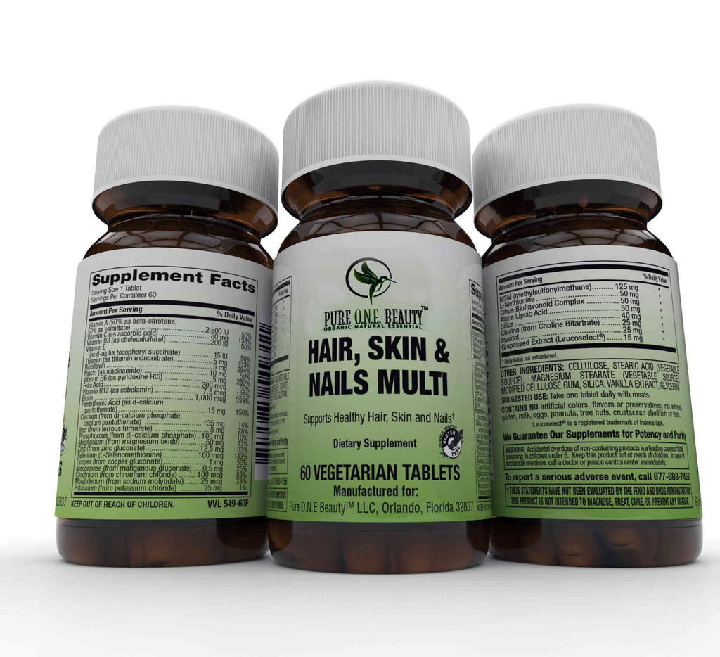 2 Months Supply Hair, Skin & Nails Vitamin Vegetable Tablets