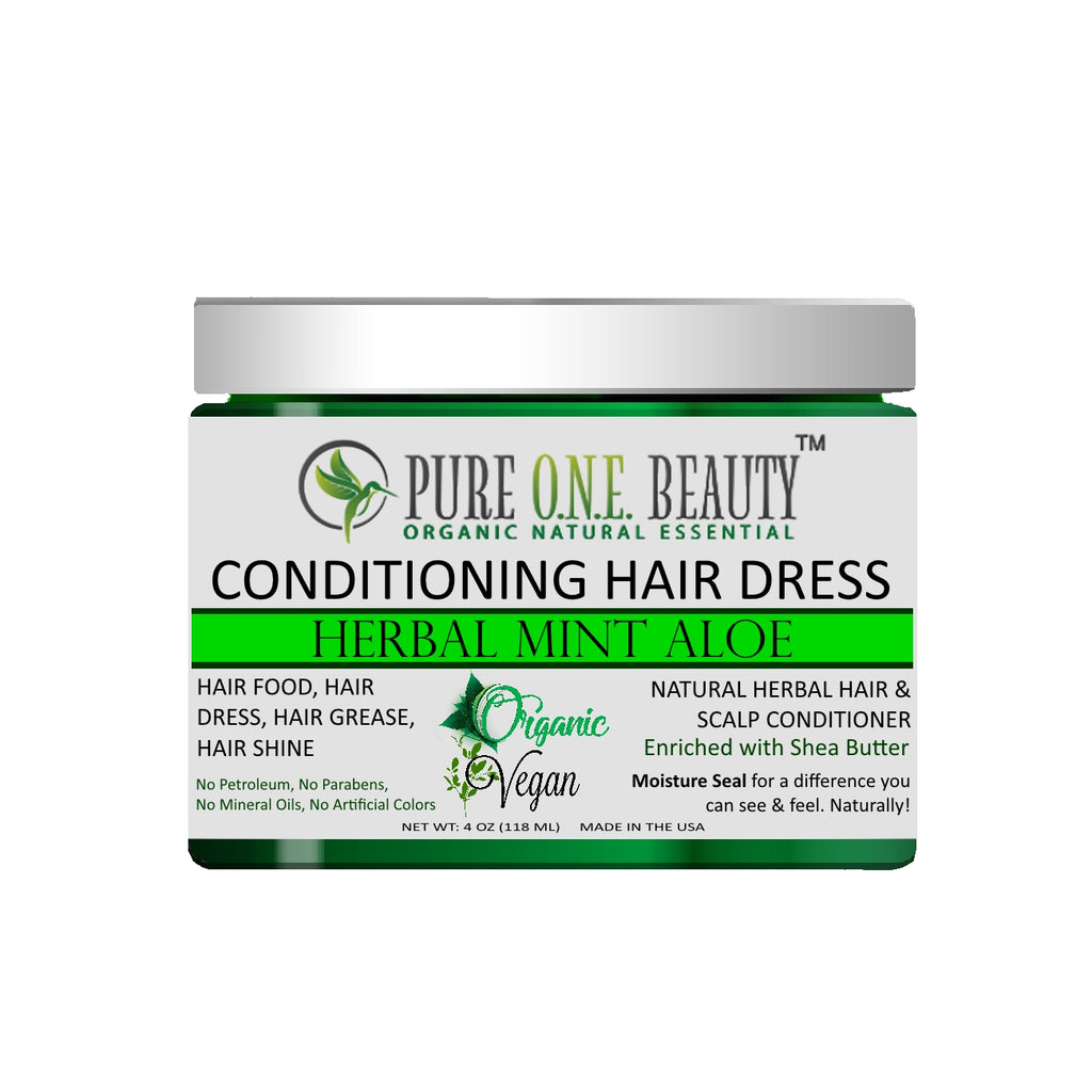Herbal Mint Aloe<br>Hair Dress & Hair Grease - Pure ONE Beauty