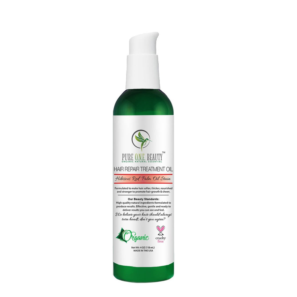 Hibiscus Red Palm Oil<br>Hair Repair & Stain Oil - Pure ONE Beauty