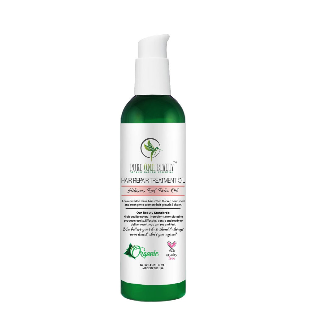 Hibiscus Red Palm Oil<br>Hair Repair Oil - Pure ONE Beauty