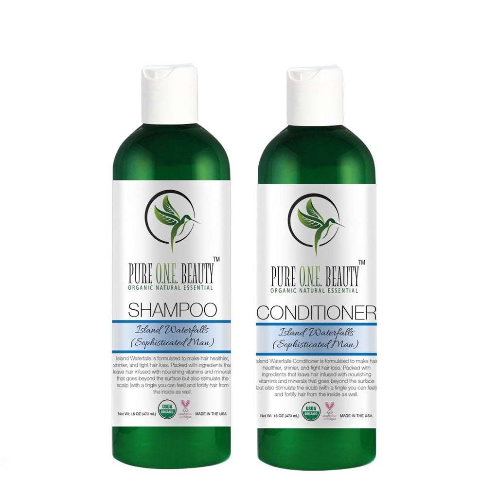 Island Waterfalls (Sophisticated Man)<br>Shampoo & Conditioner - Pure ONE Beauty