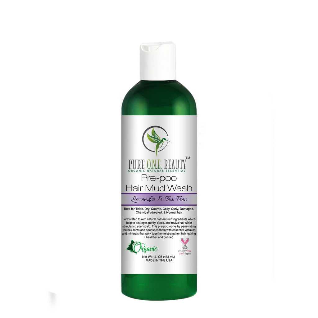 Lavender & Tea Tree<br>Pre-poo Hair Mud Wash - Pure ONE Beauty