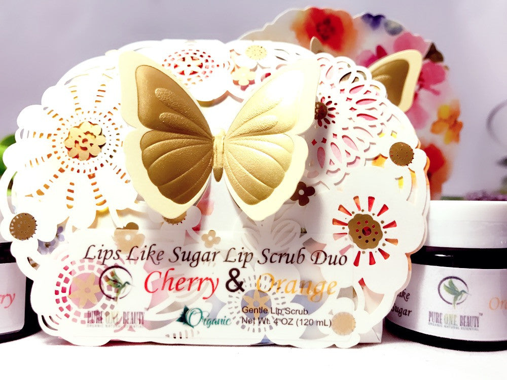 Lips Like Sugar - Cherry & Orange<br>Lip Scrub Duo - Pure ONE Beauty