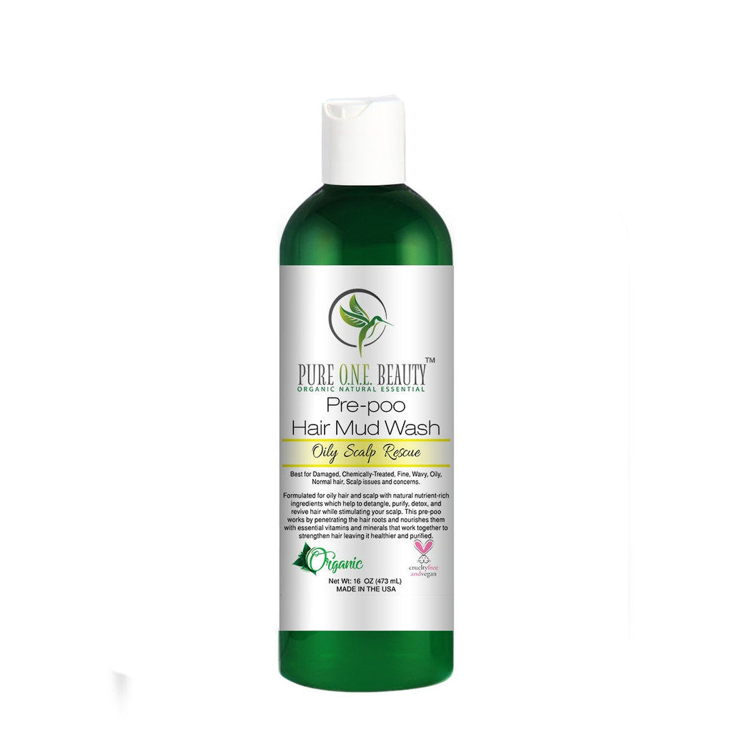 Oily Scalp Rescue<br>Pre-poo Hair Mud Wash - Pure ONE Beauty