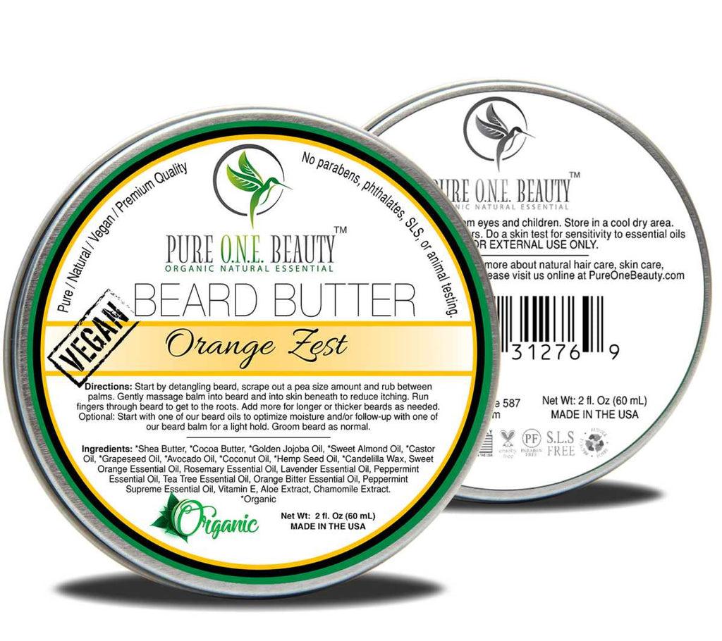 Orange Zest <br> Beard Butter - Pure ONE Beauty