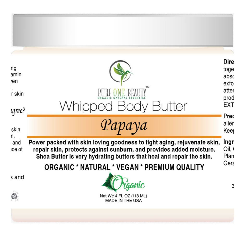 Papaya <br> Whipped Body Butter - Pure ONE Beauty