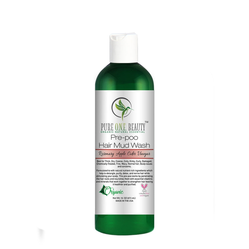 Rosemary Apple Cider Vinegar<br>Pre-poo Hair Mud Wash - Pure ONE Beauty