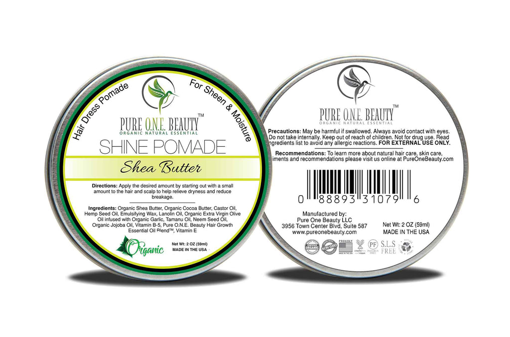 Shea Butter<br>Hair Oil Pomade - Pure ONE Beauty