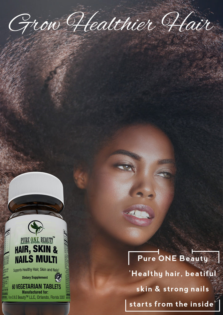 2 Months Supply Hair, Skin & Nails<br>Vitamin Vegetable Tablets - Pure ONE Beauty