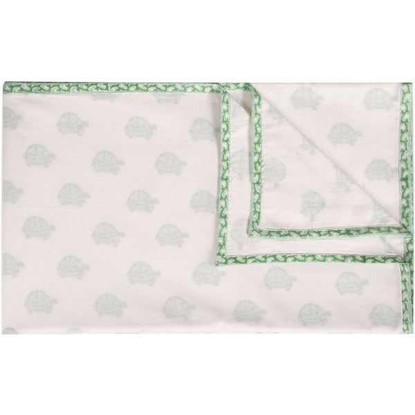 Green Turtle Organic Blanket - Naayabymoonlight