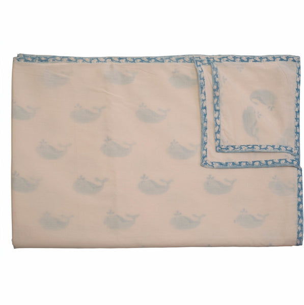 Blue Whale Organic Blanket - Naayabymoonlight