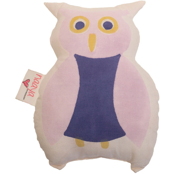 Purple Owl Small Cushion - Naayabymoonlight