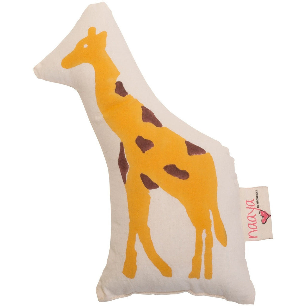 Yellow Giraffe Small Cushion - Naayabymoonlight