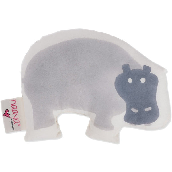 Gray Hippo Small Cushion - Naayabymoonlight