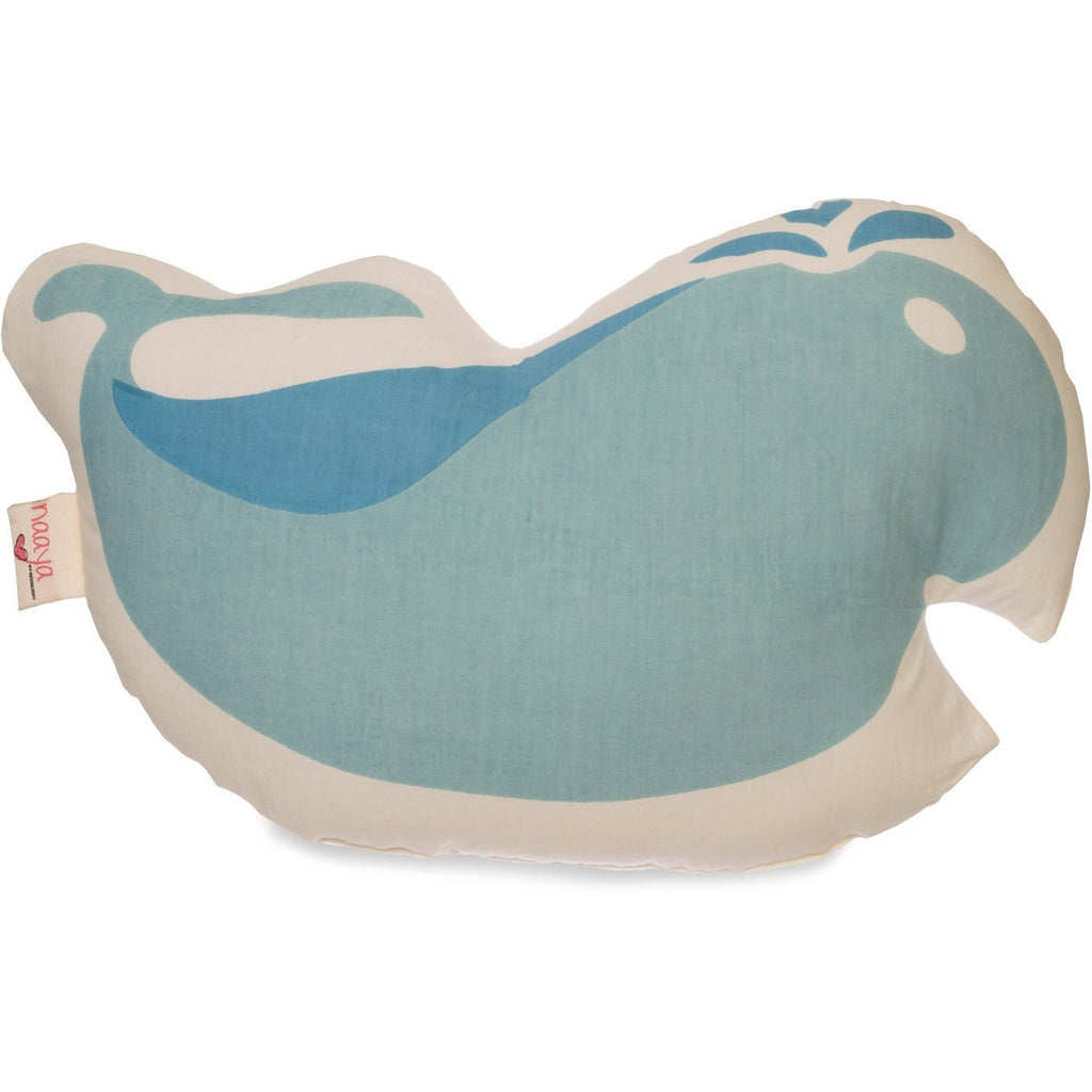 Blue Whale Large Cushion Toy Pillow for Child, Baby or Nursery