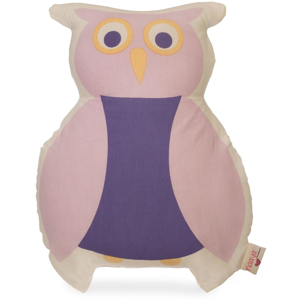 Purple Owl Large Cushion - Naayabymoonlight