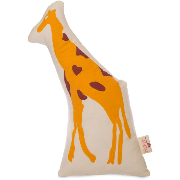 Yellow Giraffe Large Cushion - Naayabymoonlight