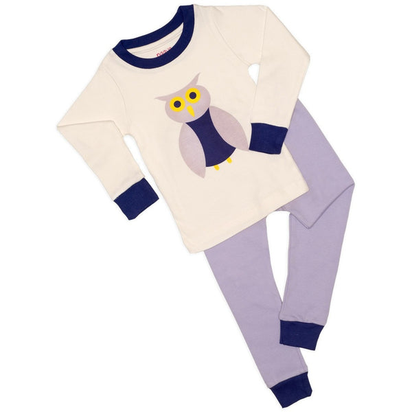 Purple Owl Organic Pajamas - LONG - Naayabymoonlight