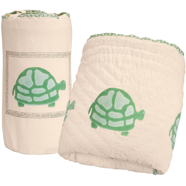Green Turtle Quilt - Naayabymoonlight